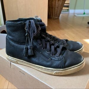 Ugg leather sneakers size 8